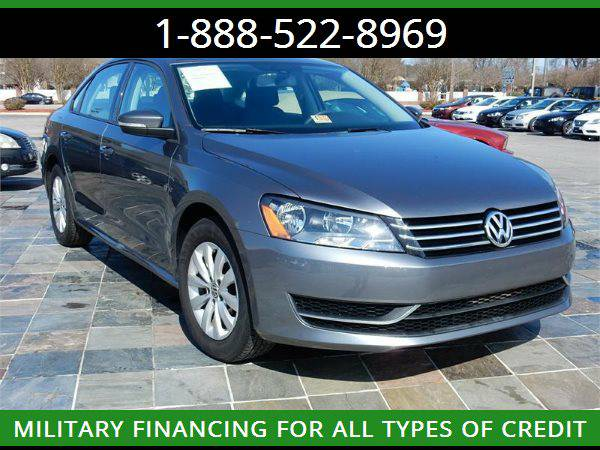 2013 VOLKSWAGEN PASSAT S --MILITARY $O DOWN FINANCING!_ALL CREDIT OK