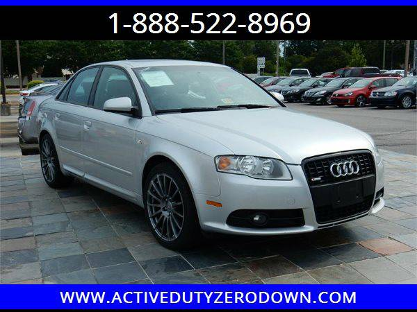2008 AUDI A4 S2.0T TURBO- GREAT DEALS FOR FT BRAGG! ZERO DOWN FINANCI