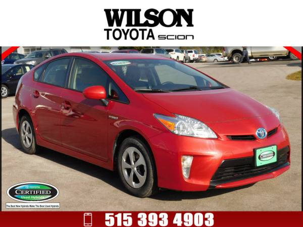 2013 Toyota Prius Five Red