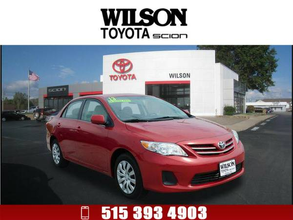*2013* *Toyota Corolla* *LE* Red