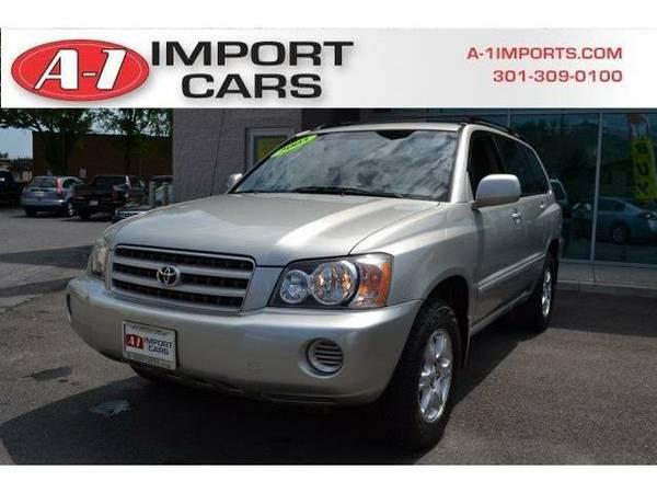 2003 *Toyota Highlander* (Millenium Silver Metallic)
