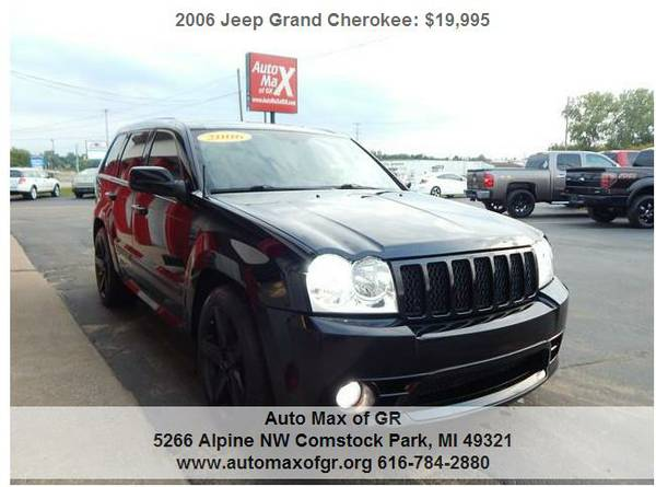 2006 JEEP CHEROKEE SRT-8 AWD! LEATHER! DVD! MOON! PERFECT! RARE!