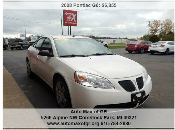 2008 Pontiac G6 Sedan ! CRUISE CONTROL ! POWER WINDOWS ! POWER LOCKS !