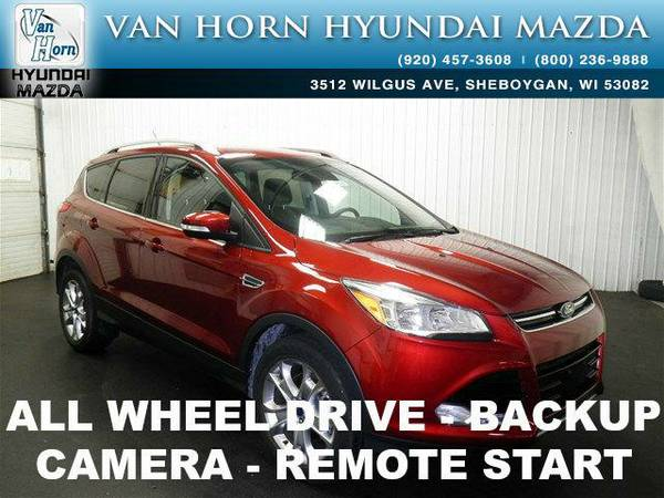 2014 *Ford Escape* Titanium AWD LTHR - Ruby Red Tinted Clearcoat BAD...
