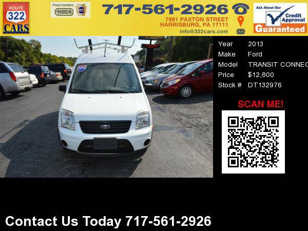2013 FORD TRANSIT CONNECT - Great Work Van, Bad Credit Approved!