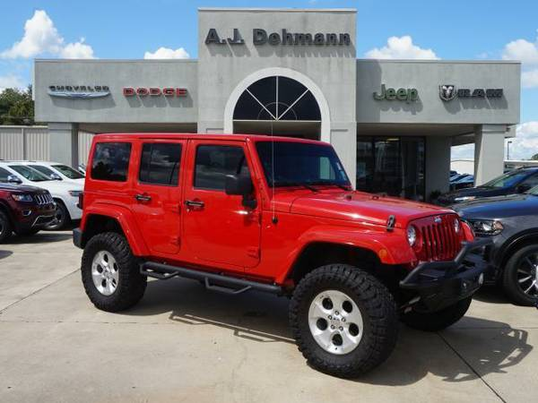 2013 *Jeep Wrangler Unlimited* Unlimited Sahara 4WD - Flame Red...