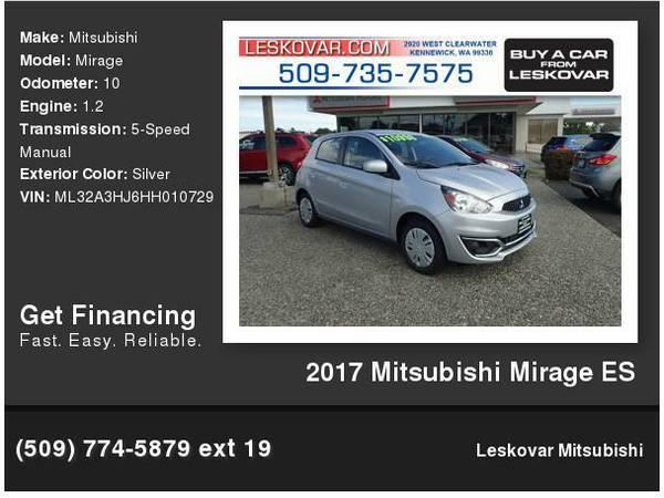 2017 Mitsubishi Mirage ES 4dr Hatchback 5M Silver