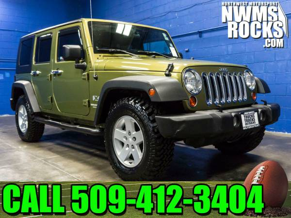 2008 *Jeep Wrangler* Unlimited X 4x4 - Clean Carfax History! 2008 Jeep