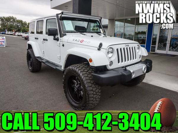 Lifted 2014 *Jeep Wrangler* Unlimited Sahara 4x4 - Lifted 2014 Jeep Wr