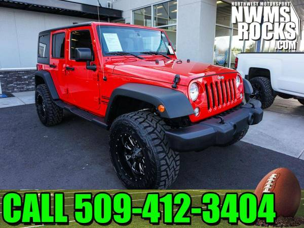 Lifted 2015 *Jeep Wrangler* Unlimited Sport 4x4 - Premium Wheels! 2015
