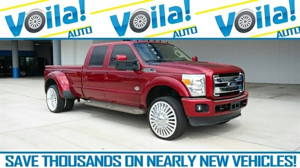 2014 FORD F-350 LARIAT TRUCK, RED