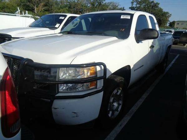 2009 Chevrolet Silverado 1500 4X4 work Truck Ext Cab 6.5 ft. SB