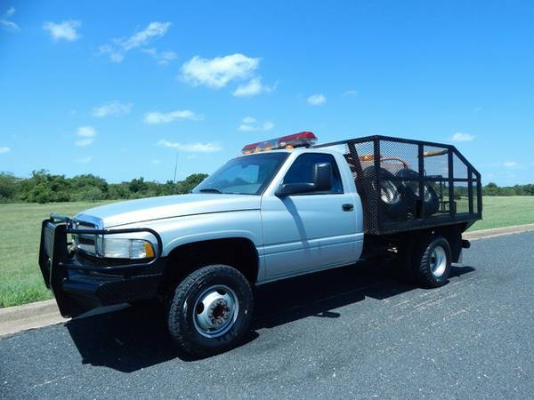 1997 DODGE RAM 3500 BRUSH TRUCK BED-5.9LCUMMINS-5SPEED-LOWMILES-1OWNER