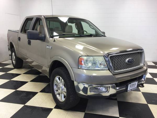 2004 FORD F-150 CREWCAB 4X4 LARIAT LEATHER! SUNROOF! LIKE NEW TIRES!