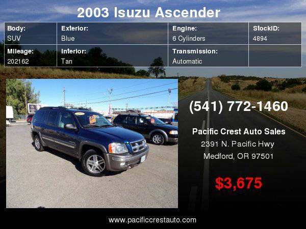 2003 (TRAILBLAZER EXT) Isuzu Ascender 4WD
