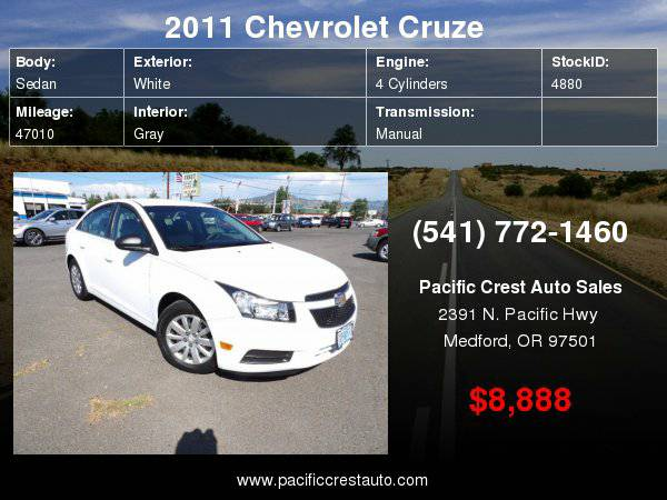 2011 Chevrolet Cruze #LOW MILES#