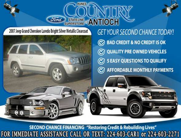 2007 *Jeep Grand Cherokee* for $91/mo! *BAD CREDIT*? Get a 2nd Chance!