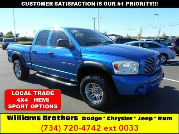 2007 *Dodge Ram Pickup 1500* SLT 4dr Quad Cab 4WD SB (Electric Blue)
