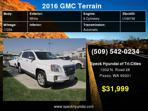2016 GMC Terrain SLT with