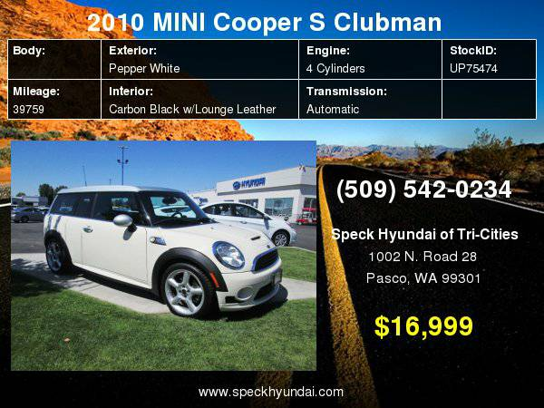 2010 MINI Cooper S Clubman with