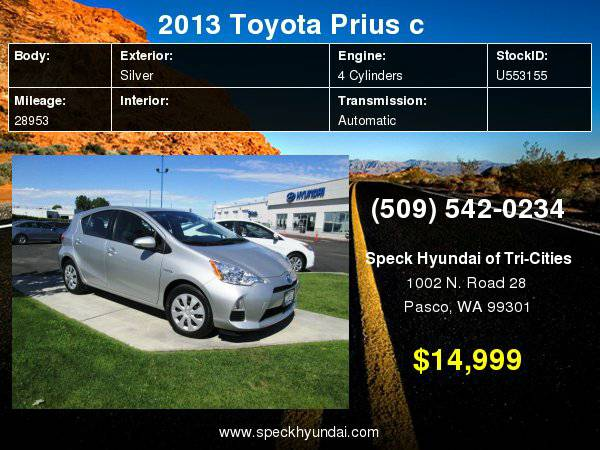 2013 Toyota Prius c with
