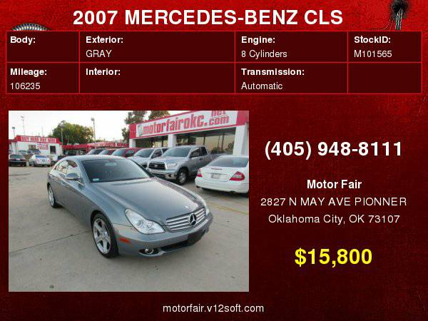 2007 MERCEDES-BENZ CLS 550 **You Are Approved!**