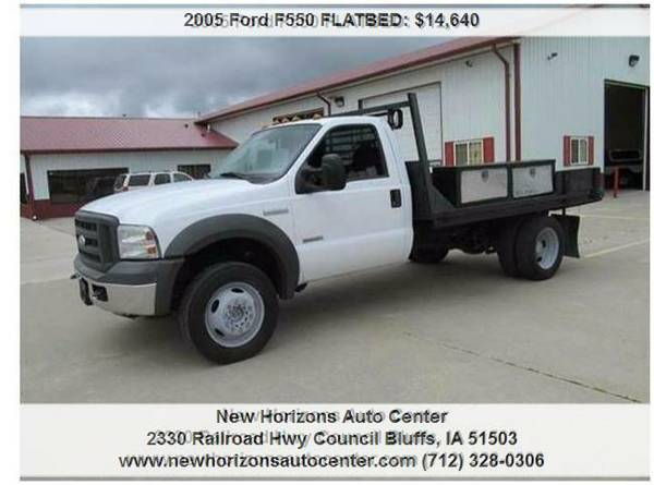 2005 Ford F550 FLATBED SUPER DUTY XL (COME SEE)