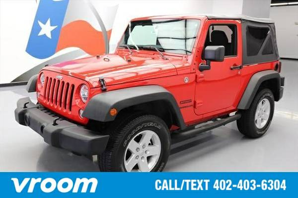 2015 Jeep Wrangler 4x4 Sport 2dr SUV Convertible 7 DAY RETURN / 3000 C