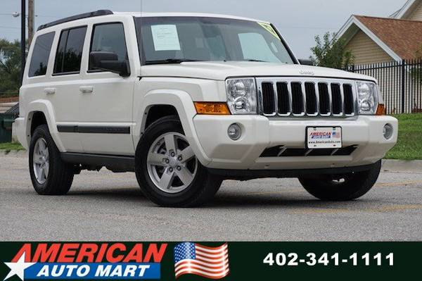 2008 JEEP COMMANDER SPORT 4X4**ONLY 87K**LEATHER**PWR ROOF**NICE**