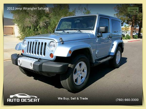 2012 Jeep Wrangler Sahara SUV -$26,900 or $283 per month