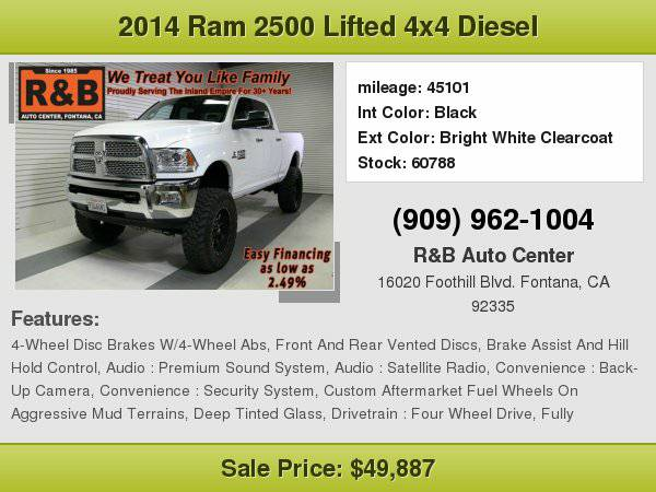 2014 Ram 2500 Laramie Highest Paid for Your Trade