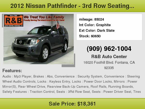 2012 Nissan Pathfinder SV BEST PRICE!