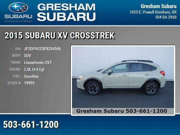 2015 *Subaru* *XV* *Crosstrek* ** SUV