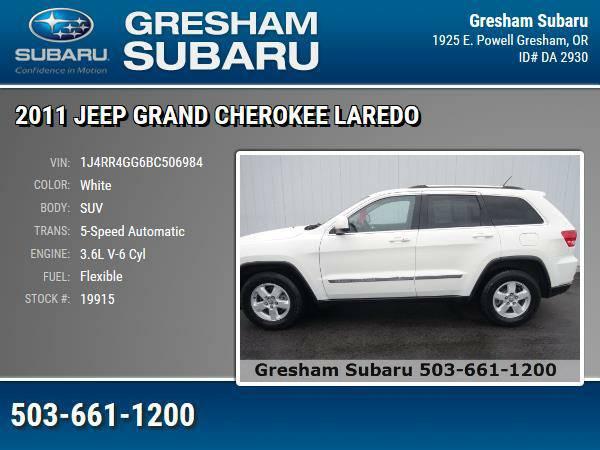 2011 *Jeep* *Grand* *Cherokee* *Laredo* SUV