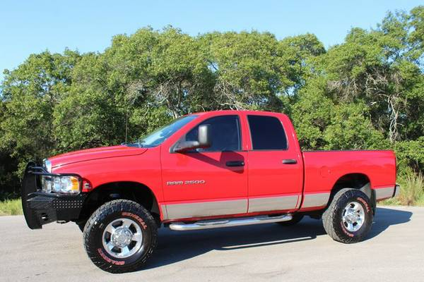 !!2003 DODGE RAM 2500 5.9L DIESEL 4X4-CLEAN CARFAX SUPER CLEAN TRUCK!