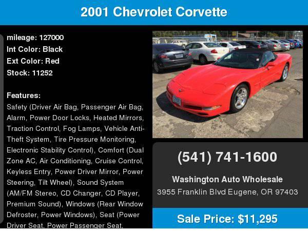 2001 Chevrolet Corvette 2dr Convertible Excellent Condition