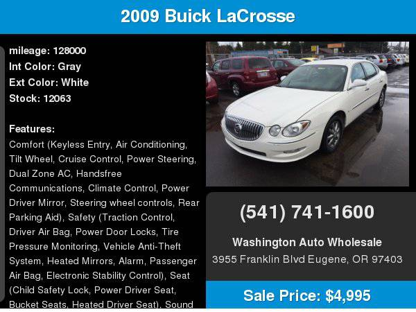 2009 Buick LaCrosse 4dr Sdn CX