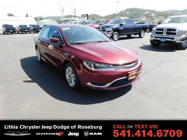 2015 Chrysler 200 LIMITED (You Save $1,408 Below KBB Retail)