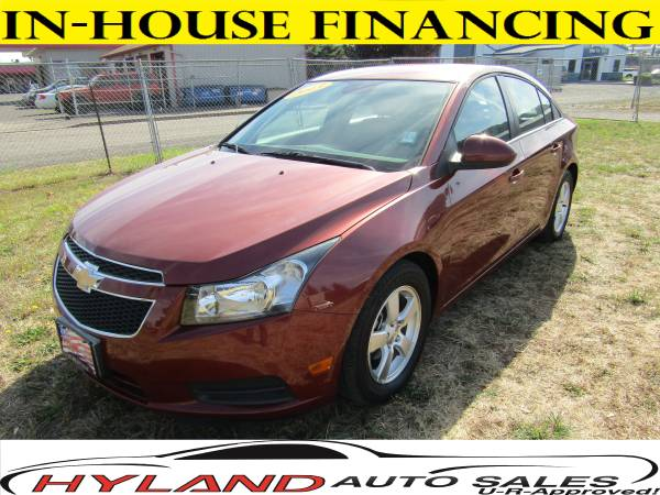 2013 CHEVROLET CRUZE LT **LOW MILES !!! U-R APPROVED !! @ HYLAND AUTO