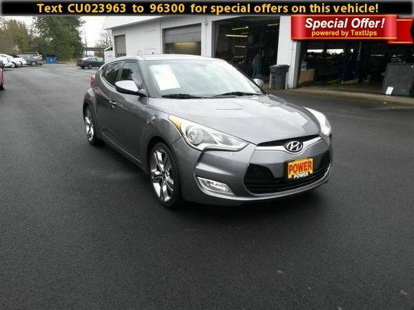 2012 *Hyundai* *Veloster* w/Gray Int - Call/Text