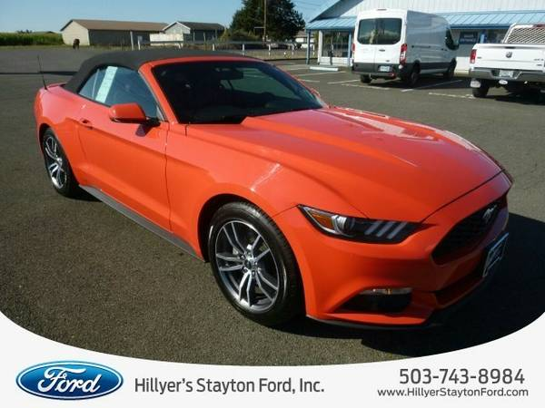 2016 Ford Mustang Convertible Convertible Mustang Ford