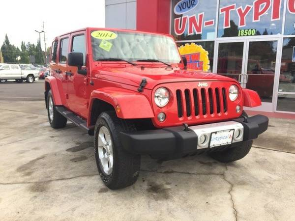 2014 *Jeep* *Wrangler* *Unlimited Sahara* 4D Sport Utility
