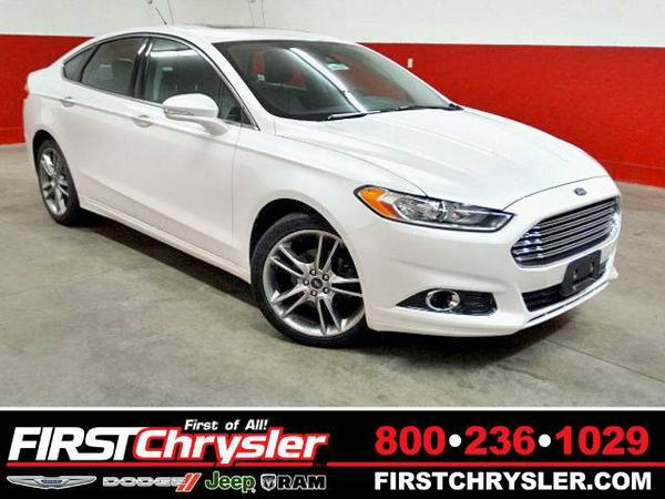 2013 *Ford Fusion* Titanium-AWD - Ford White Platinum Tri-Coat...