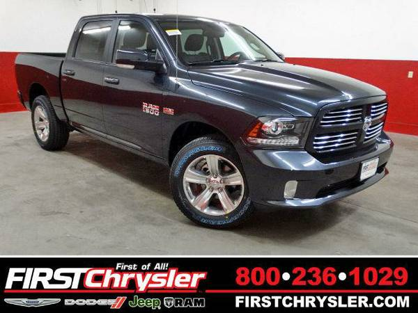 2016 *RAM 1500* Sport-4x4-Crew Cab - RAM Maximum Steel Metallic...