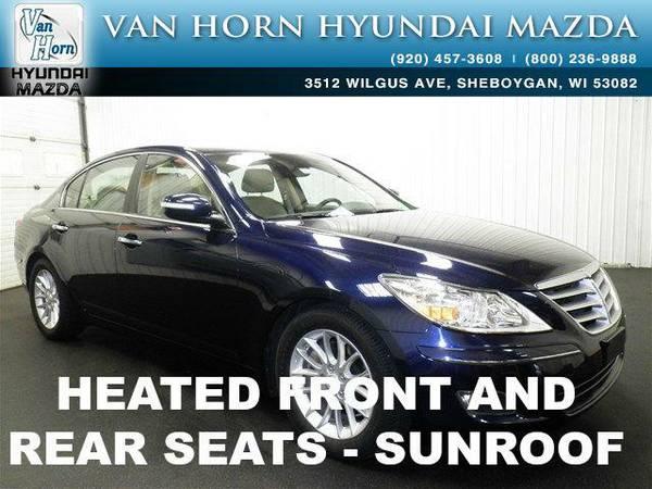 2009 *Hyundai Genesis* 3.8 LTHR ROOF - Sapphire Blue Pearl BAD CREDIT