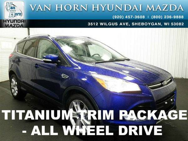 2015 *Ford Escape* Titanium AWD - Deep Impact Blue BAD CREDIT OK!