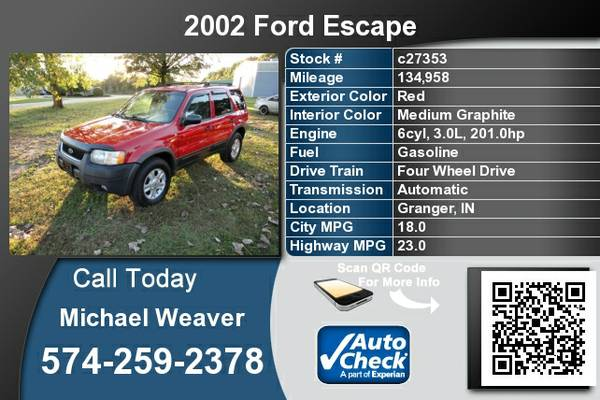 2002 Ford Escape *Low Mileage*