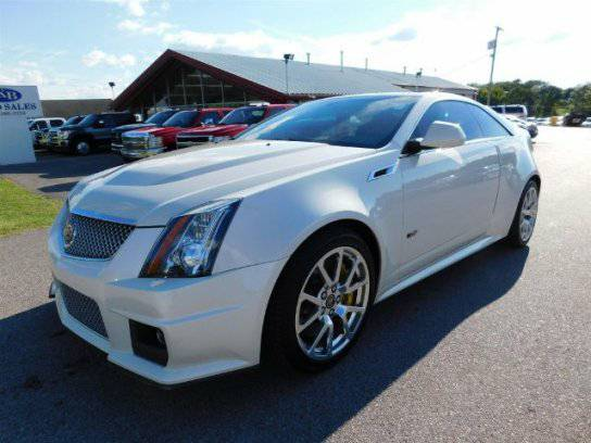 2013 CADILLAC CTS V COUPE LEATHER SUNROOF NAV PEARL WHITE LOW MILES