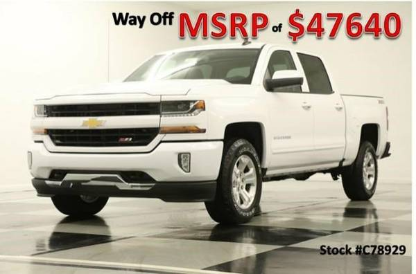*TOUGH Silver SIVERADO 1500 4X4 CREW* 2017 Chevy *CAMERA-5.3L V8*