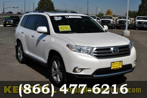 2013 Toyota Highlander Blizzard Pearl Great Deal**AVAILABLE**
